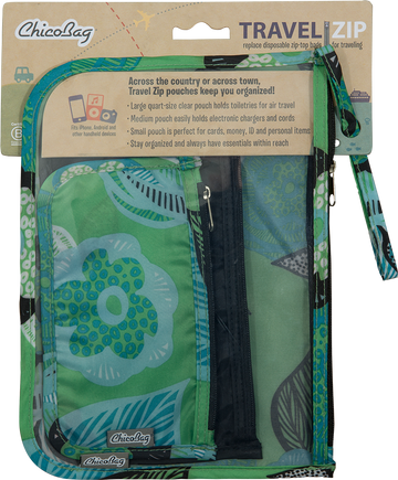 ChicoBag Travel Organization Pouches - Aqua Dreams
