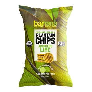 Barnana Organic Ridged Plantain Chips - Acapulco Lime