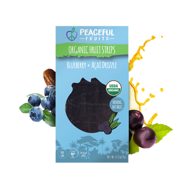 Peaceful Fruits Organic Fruit Strips - Blueberry + Acai Drizzle