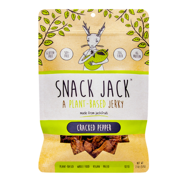 Snack Jack Jerky - A Plant-Based Jerky - Cracked Pepper