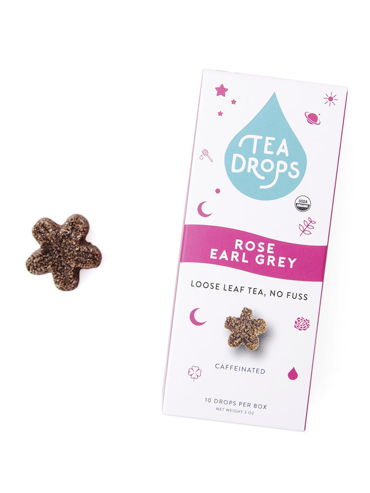 Tea Drops Loose Leaf Tea - Rose Earl Grey 10 ct