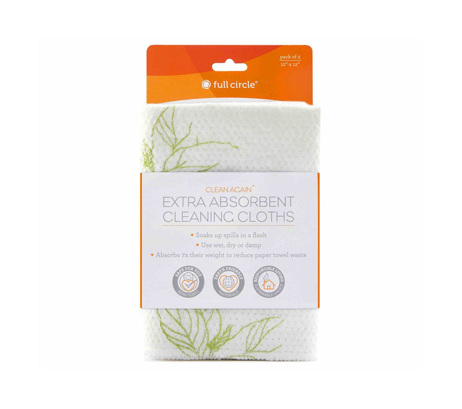 Full Circle Clean Again Extra Absorbent Cleaning Cloths