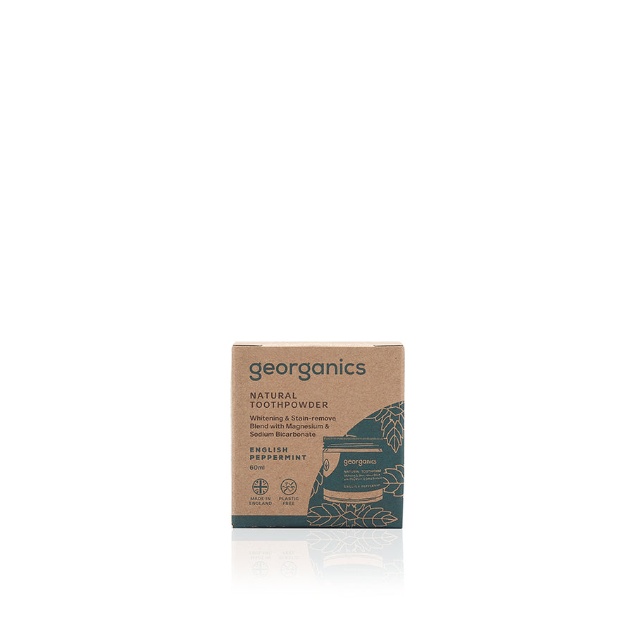 Georganics Natural Toothpowder - English Peppermint