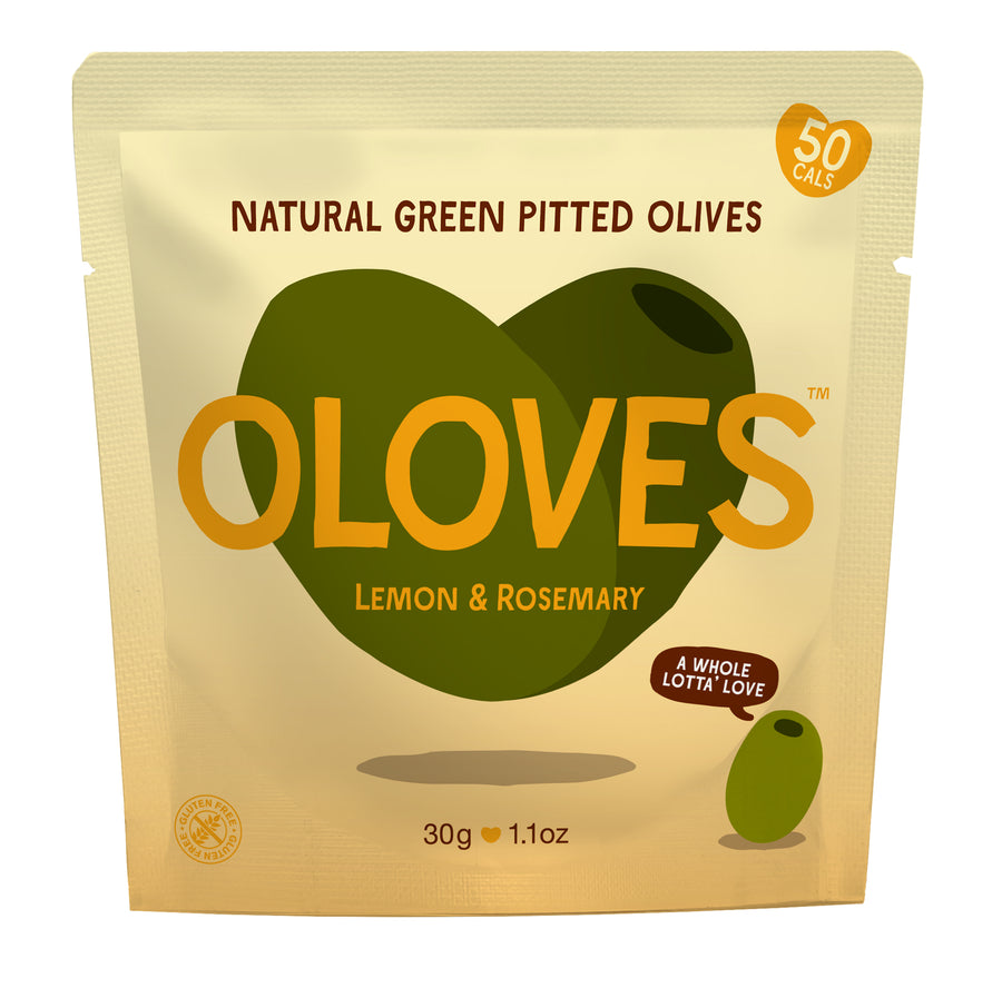 Oloves - Lemon & Rosemary Natural Green Pitted Olives