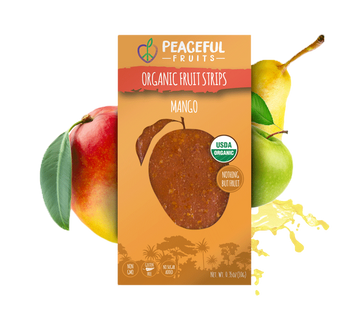 Peaceful Fruits Organic Fruit Strips - Mango