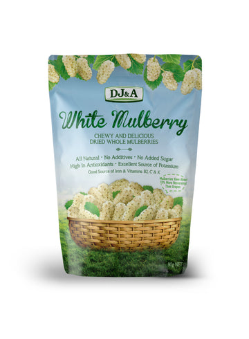 DJ&A White Mulberry - Dried Whole