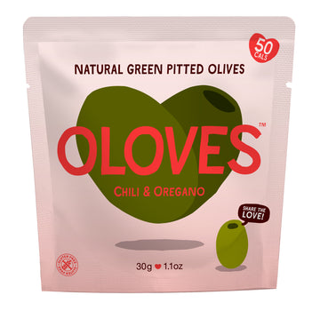Oloves - Chili & Oregano Natural Green Pitted Olives