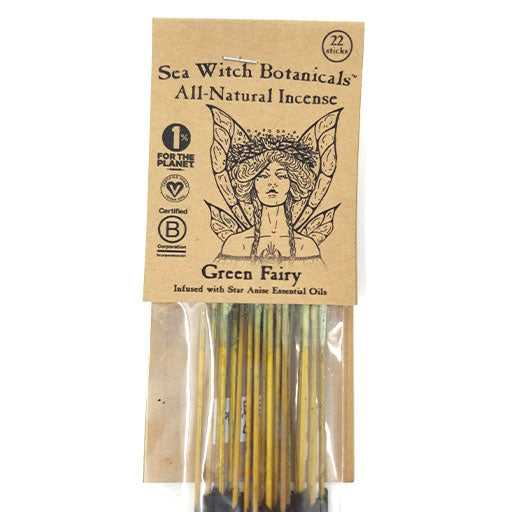 SeaWitch Botanicals Incense - GreenFairy - 22 Sticks