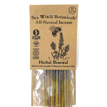 SeaWitch Botanicals Incense - Herbal Renewal - 22 Sticks
