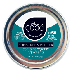 All Good SPF 50+ Water Resistant Zinc Sunscreen Butter, 1 oz.