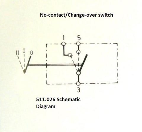 Britax/SWF 511 Change-over Contact and No-Contact/Change-Over Contact Switches