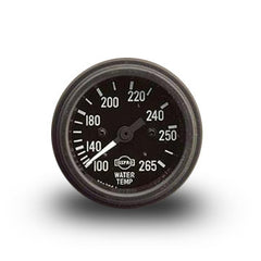 ISSPRO Standard Mechanical (Capillary) Water Temperature Gauge Black Bezel