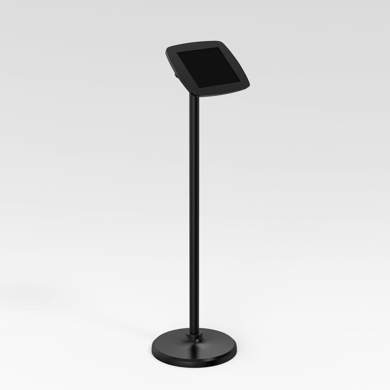 Bouncepad Floorstanding - A secure tablet & iPad floor stand in black.