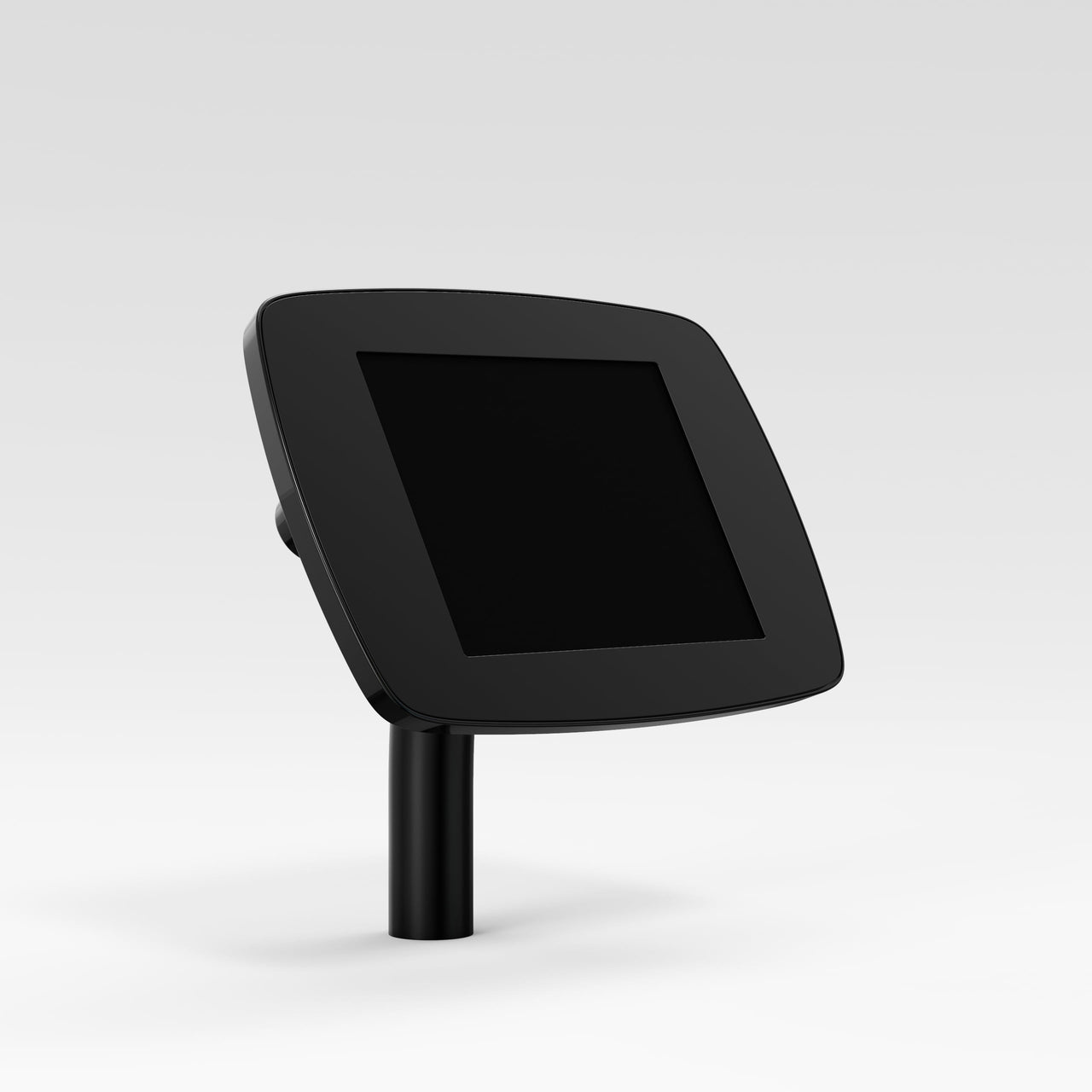Bouncepad Static 60 - A secure tablet & iPad desk mount in black.