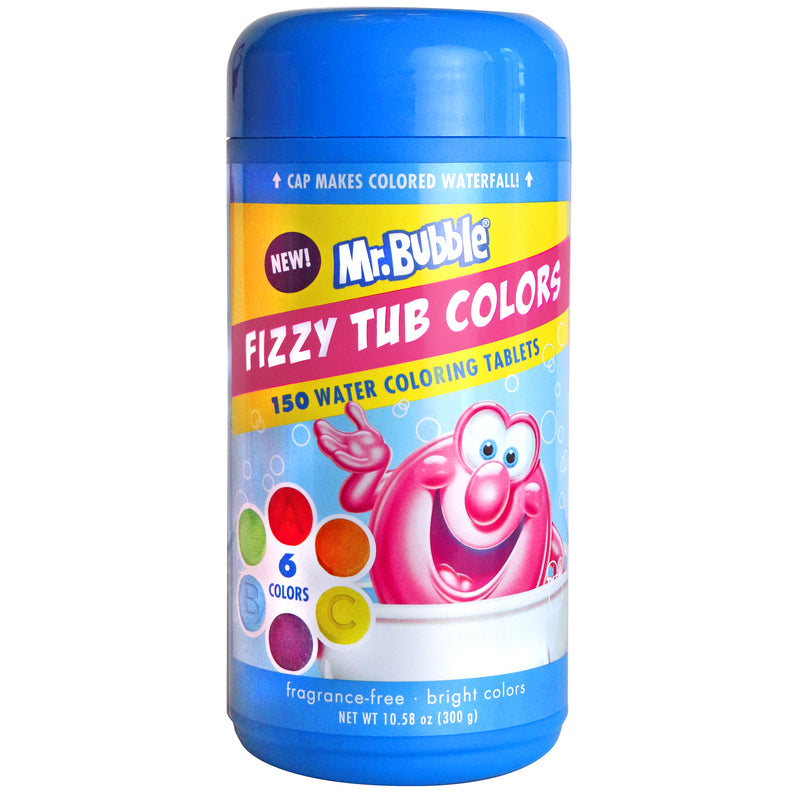 Mr Bubble fizzy tub color