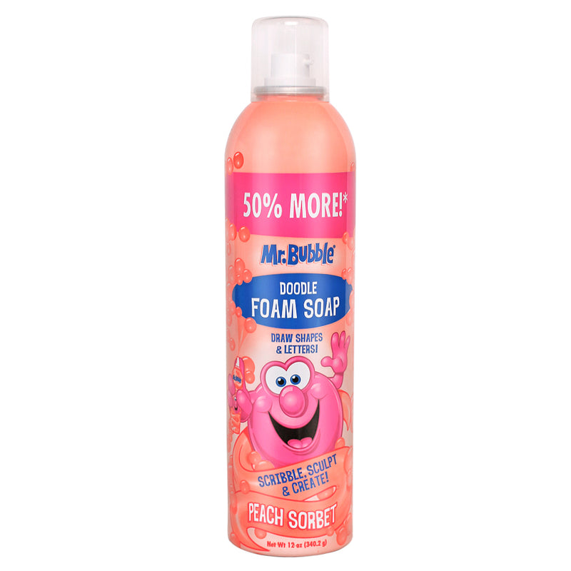 Mr. Bubble Peach Sorbet Foam Soap 12 oz
