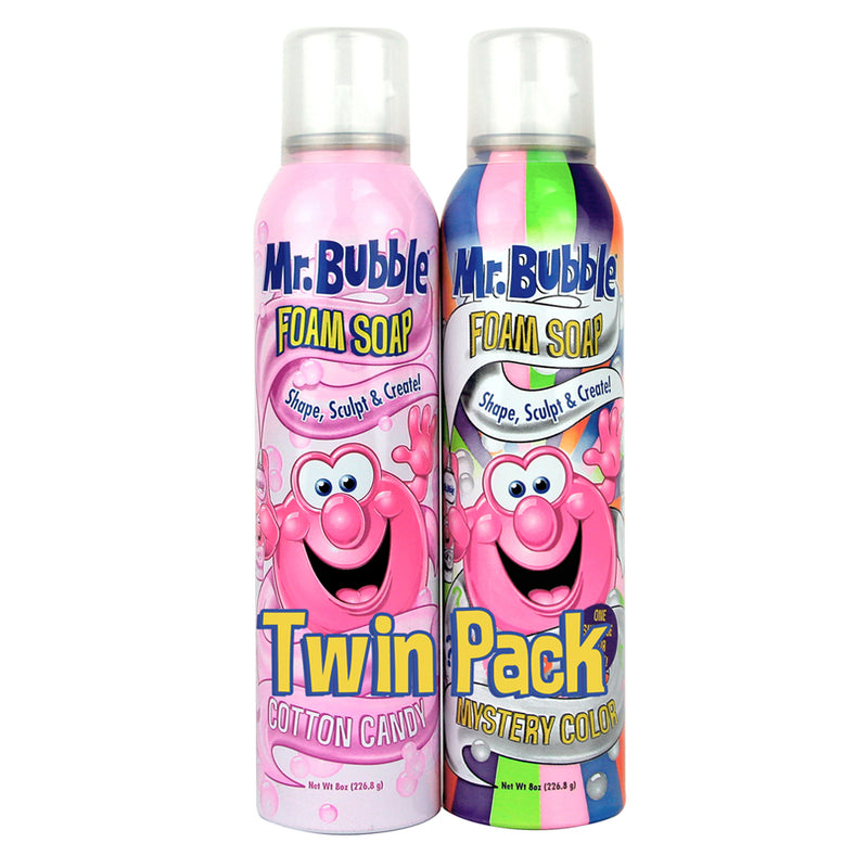 Mr. Bubble Foam Soap Twin Pack Cotton Candy Mystery Color