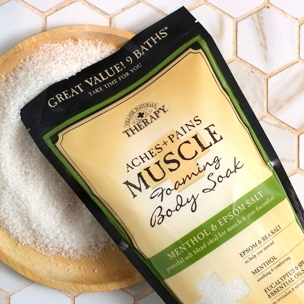 Muscle Relief Foaming Bath Soak - Village Naturals Therapy – The ...