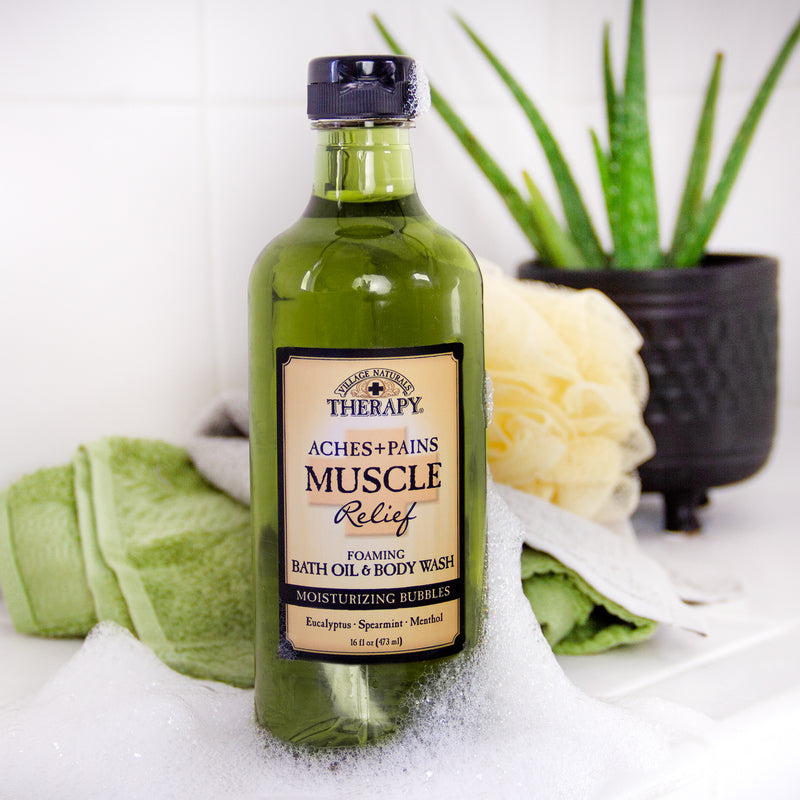 Muscle Relief Foaming Bath Oil & Body Wash