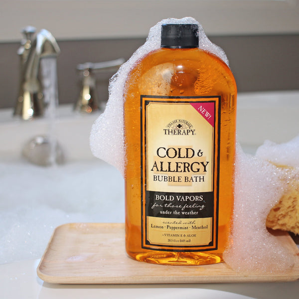 Village Naturals Therapy Cold & Allergy  Bubble Bath