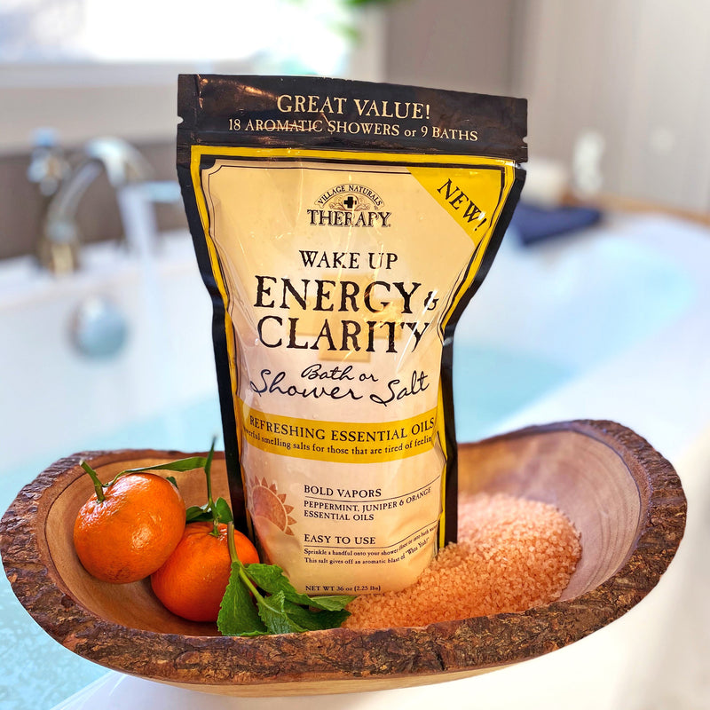 Village Naturals Therapy Energy & Clarity Bath or shower salt