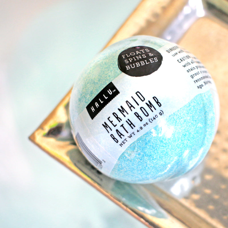 hallu mermaid bath bomb