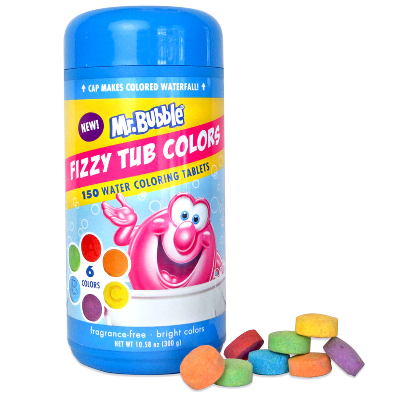 New! Mr. Bubble Fizzy Tub Colors 150 ct.