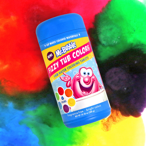 Mr. Bubble Jumbo Fizzy Tub Colors