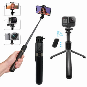 3-in-1 Bluetooth Selfie Stick & Extendable Tripod