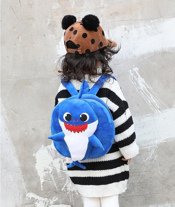 Baby Shark Backpack w/ Full Figure Baby Shark