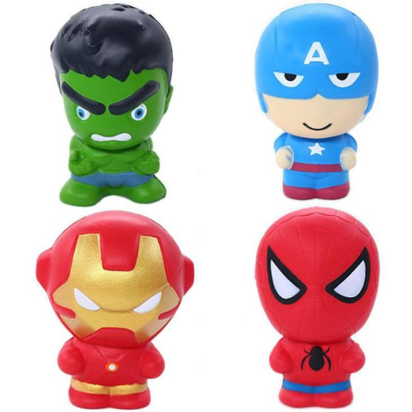 New Cute Super Hero Squishy Spiderman Iron Man Toy