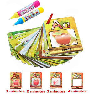 Kids Water Drawing Alphabet Training Cards