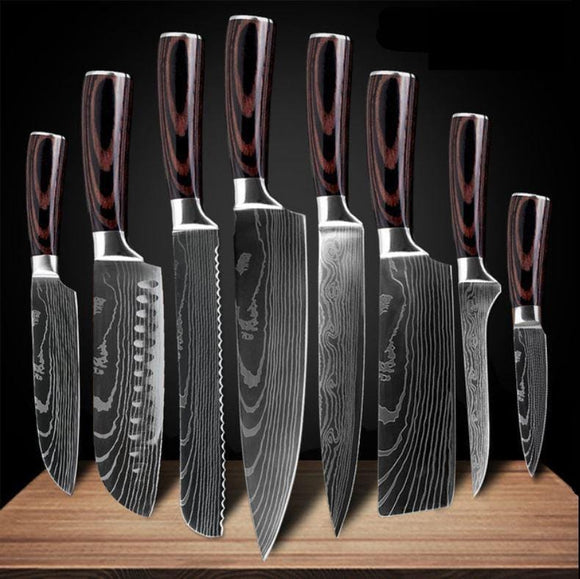 Japanese Stainless Steel Knife Full Set (8 pcs)