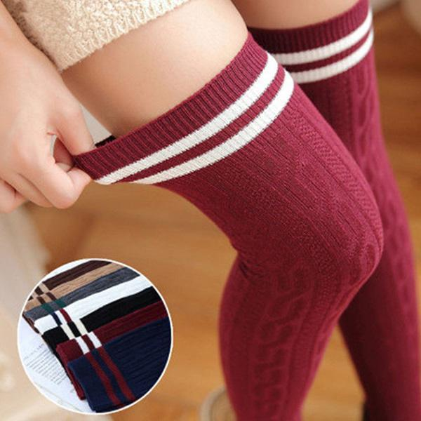 2018 New Fashion Sexy Long Cotton Stockings For Ladies