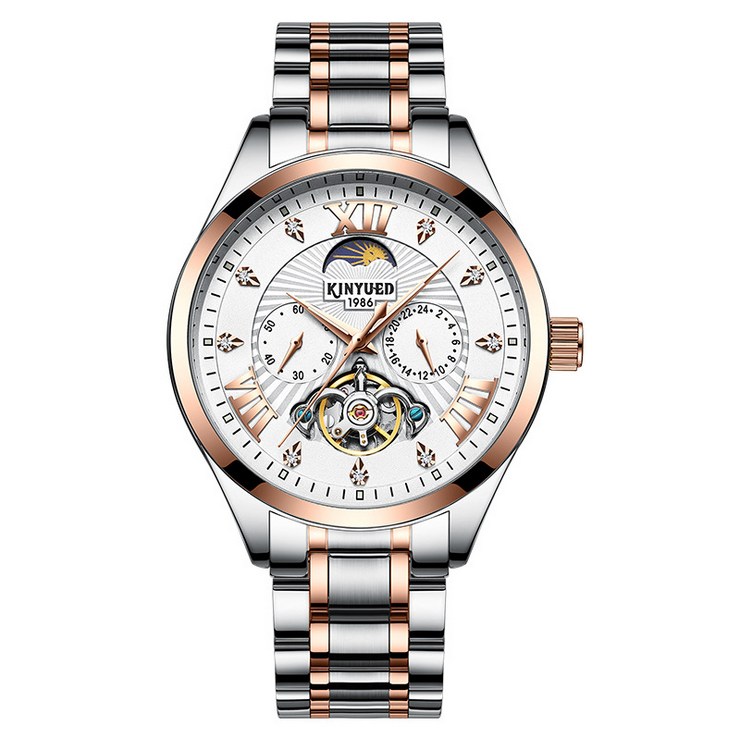 2019 New Men Automatic Mechanical Flywheel Watch
