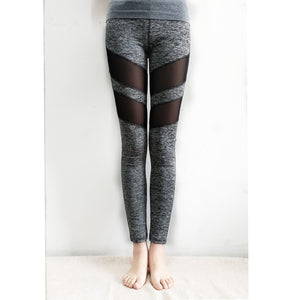 Stretchy Skinny Sheer Mesh Yoga Leggings