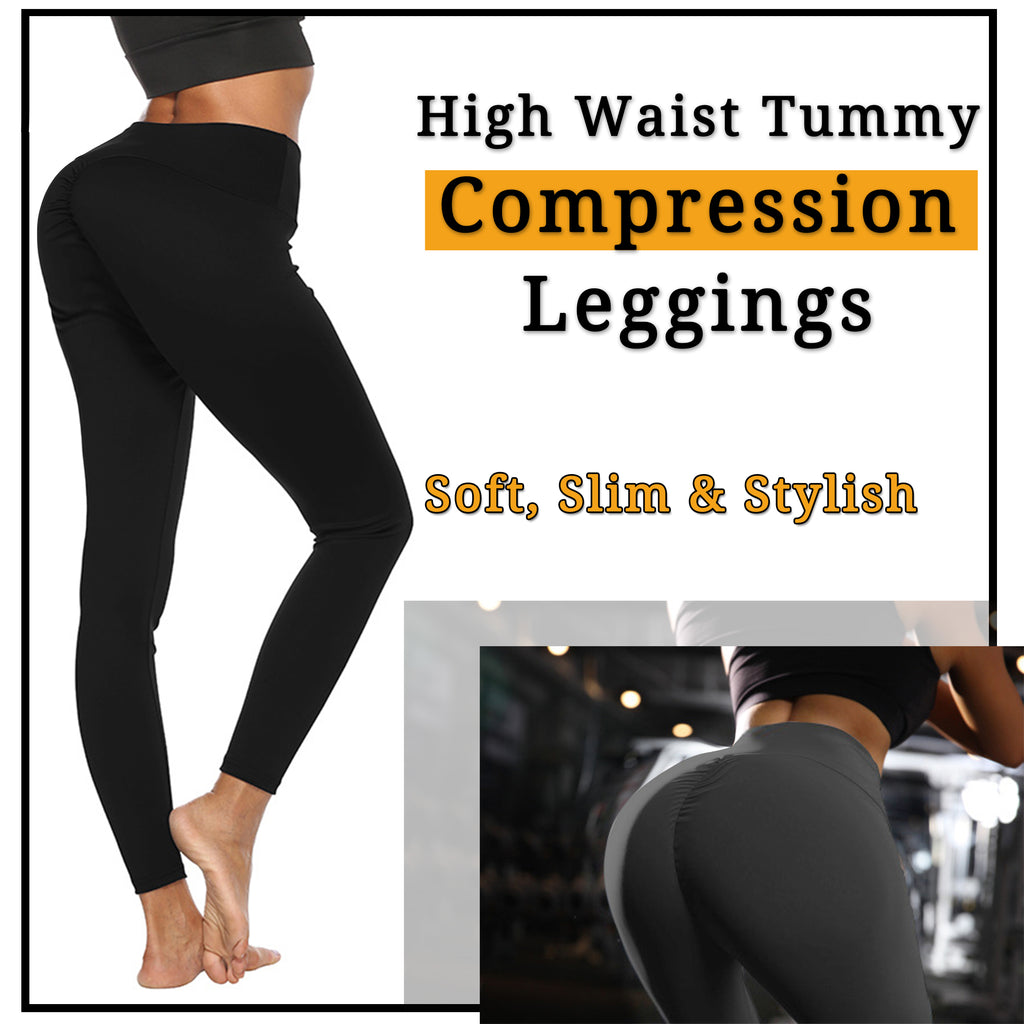 54accc6eff2dc High Waist Tummy Compression Slimming Leggings