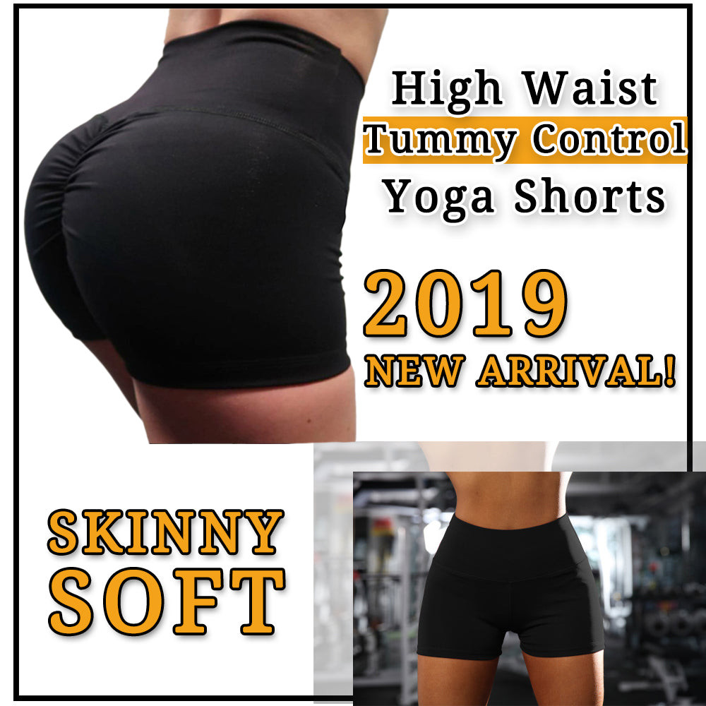 High Waist Tummy Control Workout Yoga Shorts