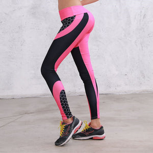 Mesh Pattern Compression Workout Leggings Yoga Pants