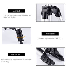 Load image into Gallery viewer, Adjustable Tripod Stand with Universal Cell Phone and Camera Mount