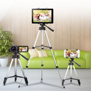 Adjustable Tripod Stand with Universal Cell Phone and Camera Mount