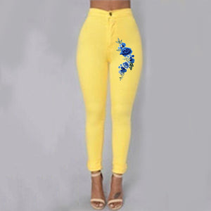 Blue Rose Woman High Waist Push Up Skinny Jean Pants