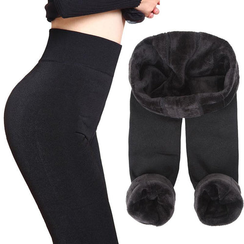 Women High Rise Ankle Length Thick Warm Leggings