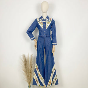 The Dolly 1970s Denim Trouser Suit