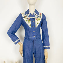 Load image into Gallery viewer, The Dolly 1970s Denim Trouser Suit