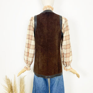 The Amber 70s Suede Waistcoat