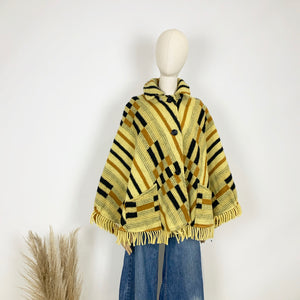 The Tammy 1970s Pure Wool Poncho
