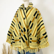 Load image into Gallery viewer, The Tammy 1970s Pure Wool Poncho