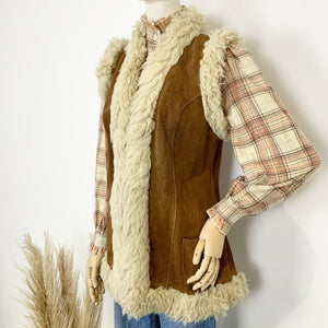 The Penny 1970s Suede Gilet