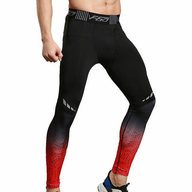 Men Running Tights Pants 2019 Men Sports Legging Sportswear Quick Dry Breathable Pro Compression Gym Fitness Athletic Trousers